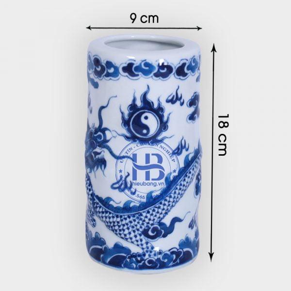 Ống hương bát tràng xanh lam nổi đẹp giá rẻ tại Hà Nội