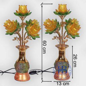 Đèn bình hoa sen 5 bông Vàng 60cm cao cấp đẹp giá rẻ tại Hà Nội