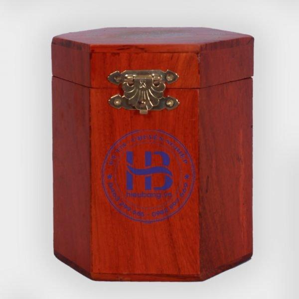 Hộp đựng chè bằng gỗ Hương khảm trai nhỏ đẹp giá rẻ tại Hà Nội