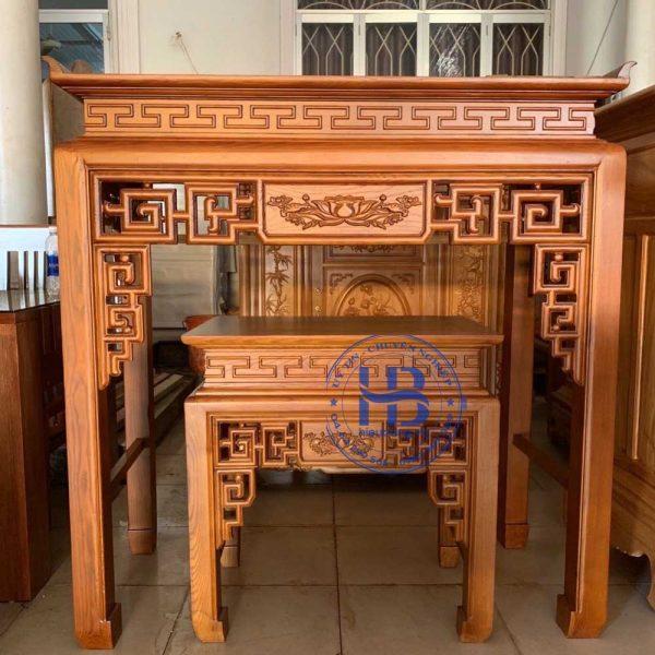 Bàn thờ bằng gỗ Sồi HB-C07 Đẹp Giá Tại Xưởng ở Hà Nội