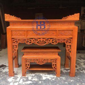 Bàn thờ bằng gỗ Sồi HB-C09 Đẹp Giá Tại Xưởng ở Hà Nội