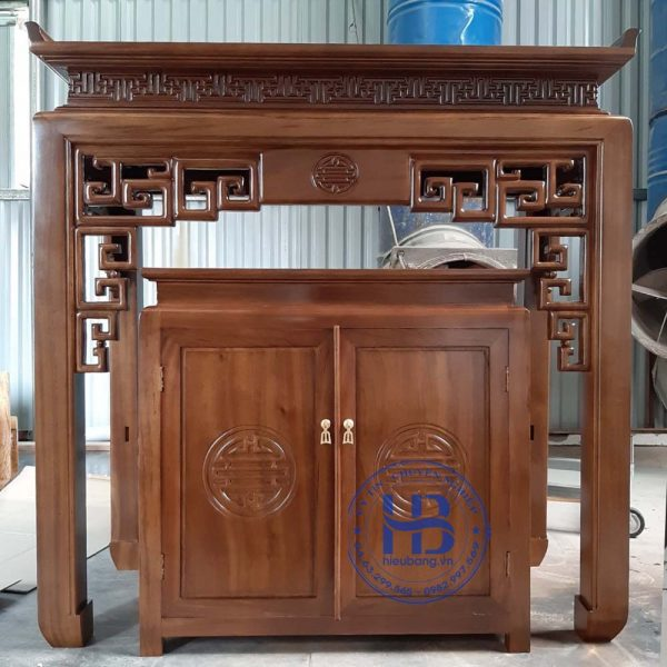 Bàn thờ bằng gỗ Sồi HB-T03 đẹp giá rẻ tại Hà Nội