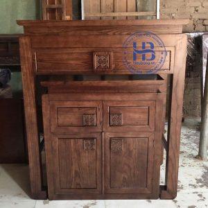 Bàn thờ bằng gỗ Sồi HB-T05 đẹp giá Gốc tại Hà Nội