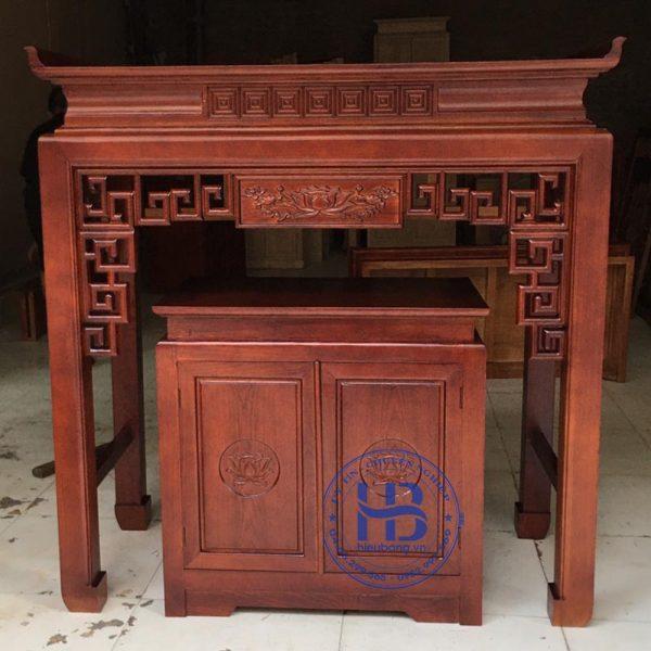 Bàn thờ bằng gỗ Sồi HB-T06 đẹp giá Gốc tại Hà Nội