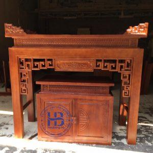 Bàn thờ bằng gỗ Sồi HB-T11 đẹp giá Gốc tại Hà Nội