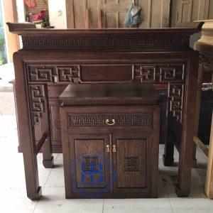 Bàn thờ bằng gỗ Sồi HB-T21 đẹp giá rẻ tại Hà Nội
