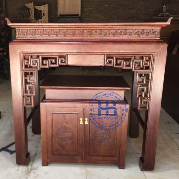 Bàn thờ bằng gỗ Sồi HB-T22 đẹp giá rẻ tại Hà Nội