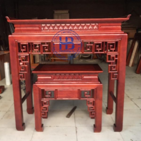 Bàn thờ bằng gỗ Sồi HB-C06 đẹp giá rẻ ở Hà Nội