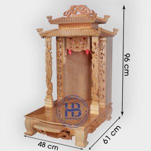 Bàn thần tài mái chùa cột Hạc 48cm đẹp giá rẻ Hà Nội