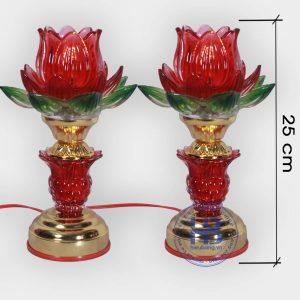 Đèn thờ điện led 1 bông Đỏ cao cấp đẹp giá rẻ tại Hà Nội