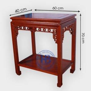 Đôn kê gỗ Gụ mặt 40x60cm, cao 70cm đẹp giá tại xưởng ở Hà Nội
