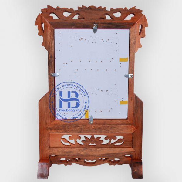 Khung ảnh thờ gỗ gụ 20x25cm đẹp giá rẻ tại Hà Nội