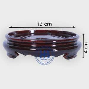 Đế kê bát hương gỗ Sà Cừ 13cm đẹp giá rẻ ở Hà Nội