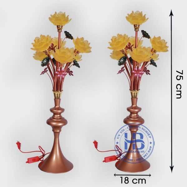 Đèn thờ hoa sen 7 bông cap cấp đẹp giá rẻ tại Hà Nội