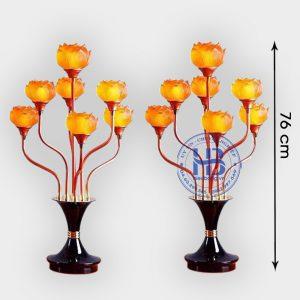 Đèn thờ hoa sen 7 bông 76cm cao cấp