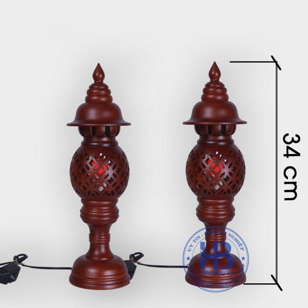 Đèn thờ gỗ sà cừ 34cm đẹp giá rẻ tại Hà Nội