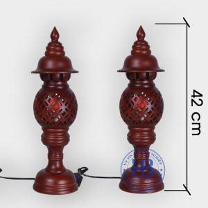 Đèn thờ gỗ sà cừ 42cm đẹp giá rẻ tại Hà Nội