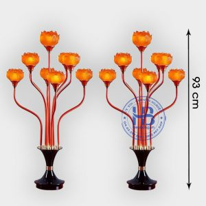 Đèn thờ hoa sen 9 bông 93cm cao cấp tại Hà Nội