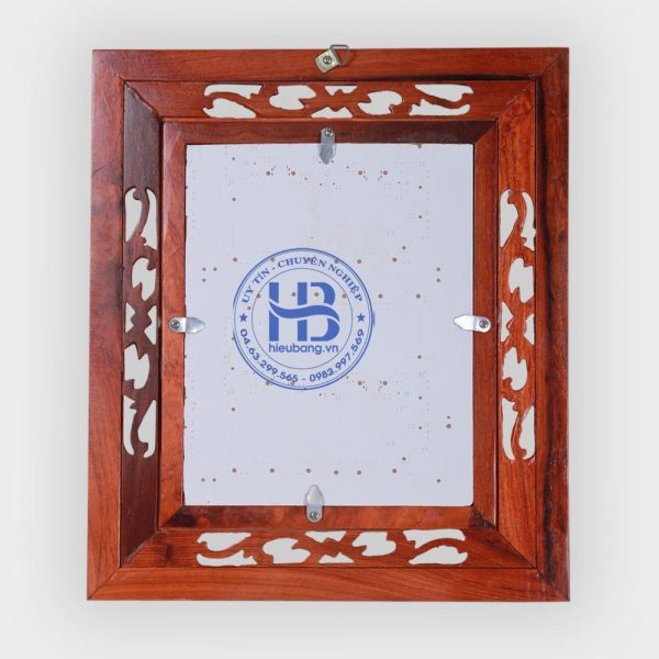 Khung ảnh thờ kép treo gỗ Hương 20x25 đục hoa lá tây đẹp giá rẻ tại Hà Nội