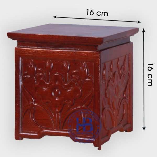 Kỷ Vuông Nhất Sơn Gỗ Hương 16cm