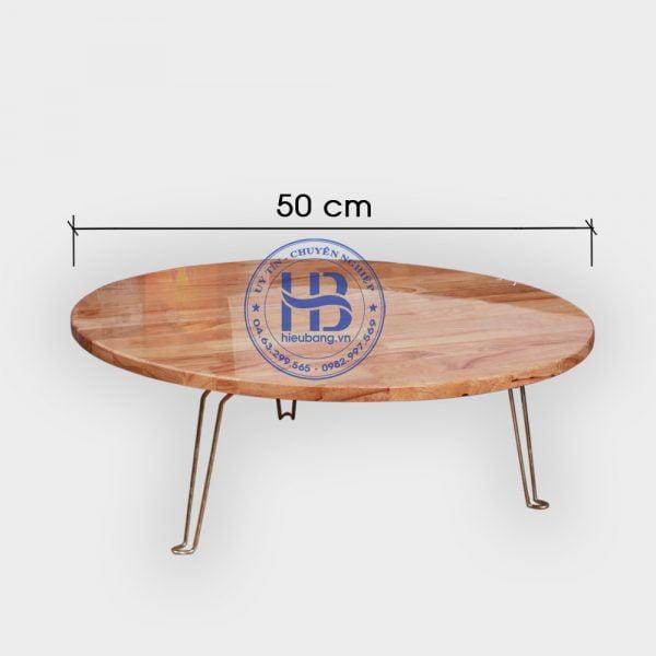 Bàn xếp mặt tròn phi 50cm đẹp giá rẻ ở Hà Nội