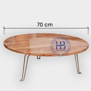Bàn xếp mặt tròn phi 70cm đẹp giá rẻ ở Hà Nội