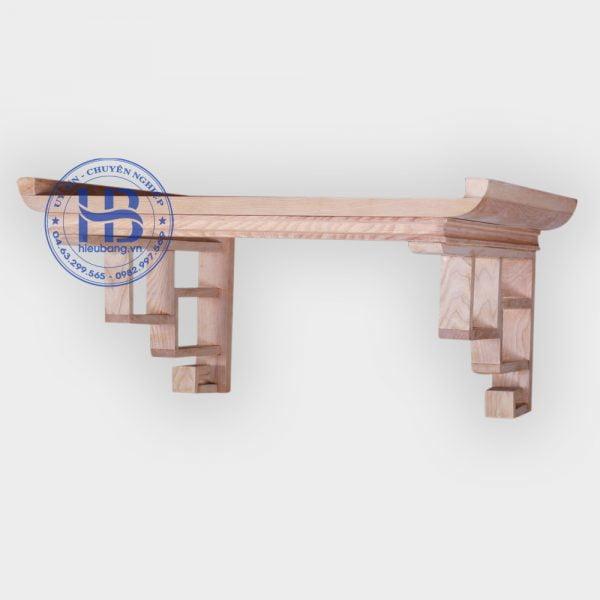 Bàn thờ treo tường 69x48cm hàng mộc đẹp giá rẻ tại Hà Nội