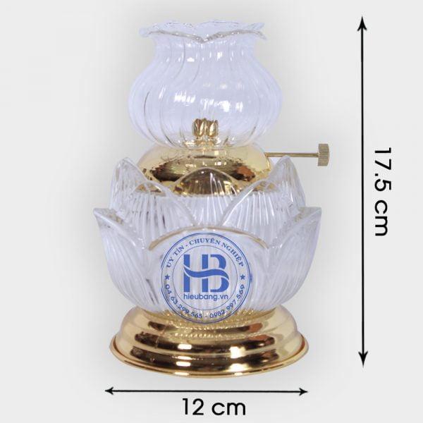 Đèn Dầu Thủy Tinh Hoa Sen Trắng Cao Cấp 17,5cm Đẹp Giá Rẻ Tốt Tại Hà Nội