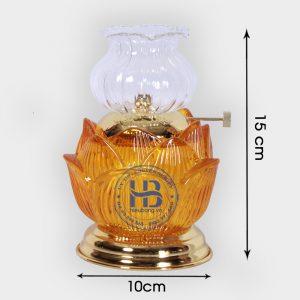 Đèn Dầu Thủy Tinh Hoa Sen Vàng Cao Cấp Đẹp Giá Rẻ Tốt Tại Hà Nội