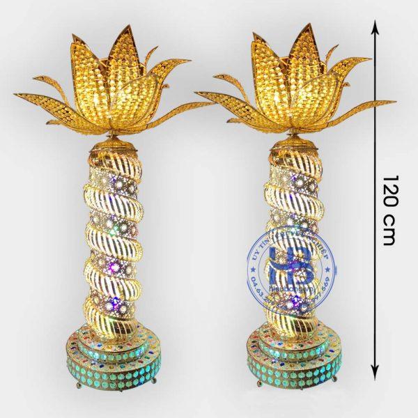 Đèn thờ hoa sen cao cấp 120cm đẹp giá rẻ tại Hà Nội