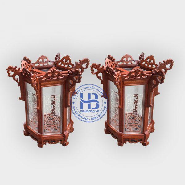Đèn lồng khung treo gỗ hương đẹp giá rẻ ở Hà Nội | Đèn lồng