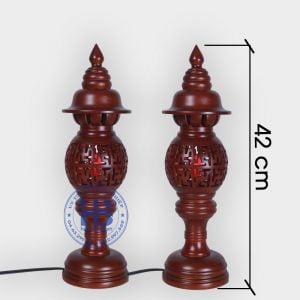 Đèn thờ gỗ Sà Cừ 42cm chữ Vạn Giá Rẻ Tại Hà Nội | Với Nhiều Mẫu Đèn Thờ Đẹp