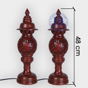 Đèn thờ gỗ Sà Cừ chữ Vạn 48cm Giá Rẻ Tại Hà Nội | Với Nhiều Mẫu Đèn Thờ Đẹp