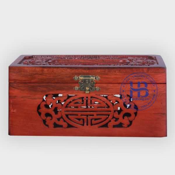 Hộp đựng giấy ăn bằng gỗ Hương Đục Nền Đẹp Giá Rẻ Tại Hà Nội