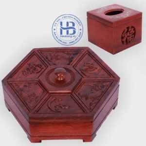 Khay đựng mứt tết và hộp giấy vuông khảm gỗ Hương đẹp giá rẻ ở Hà Nội