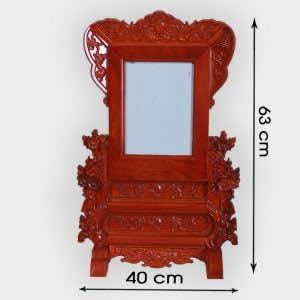 Khung ảnh thờ 18x24cm đục Hoa Mai thêm lượt sen cao cấp ở Hà Nôi