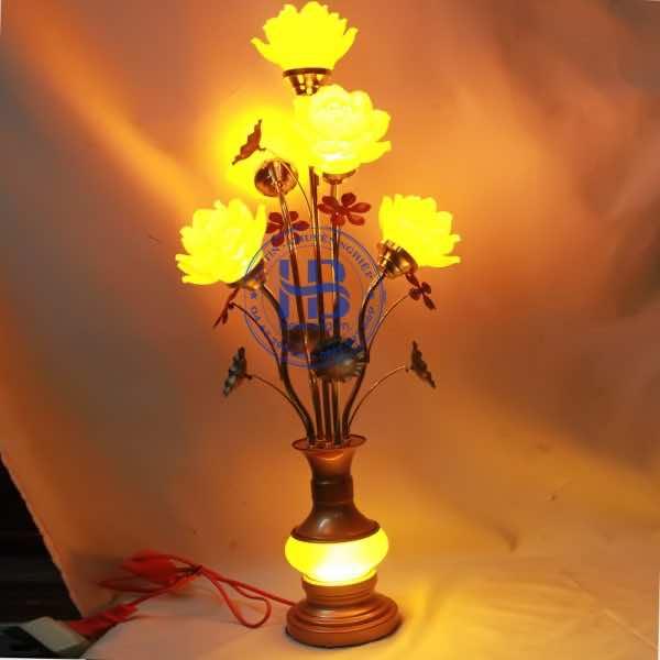 Đèn Thờ Hoa Sen Lưu Ly 5 Bông Cao Cấp Đẹp Tại Hà Nội