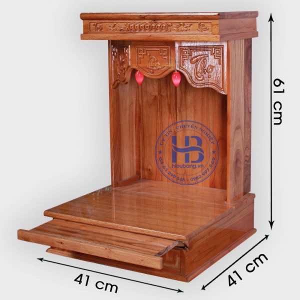 Bàn thờ thần tài gỗ xoan đào đẹp giá rẻ ở Hà Nội