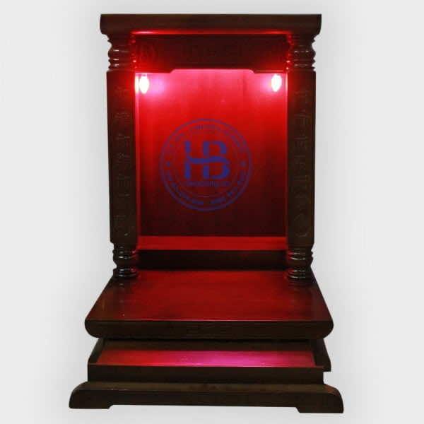 Bàn thờ thần tài hiện đại gỗ thông 48cm cột Vuông Màu Đẹp Giá Rẻ ở Hà Nội