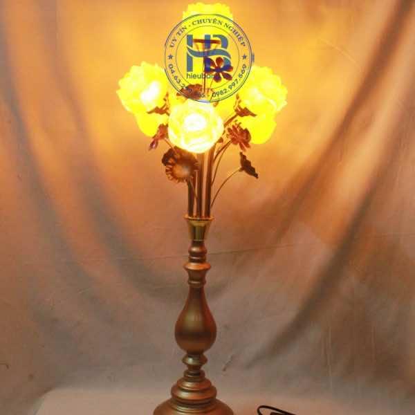 Đèn Thờ Hoa Sen Lưu Ly 5 Bông 75cm Cao Cấp Đẹp Tại Hà Nội