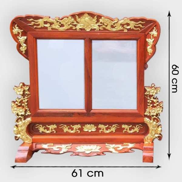 Khung Ảnh Thờ Đôi Hoa Mai Dát vàng 20x30cm cao cấp tại Hà Nội