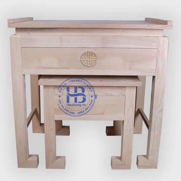 Bàn thờ đứng gỗ sồi hàng mộc đẹp giá rẻ Hà Nội