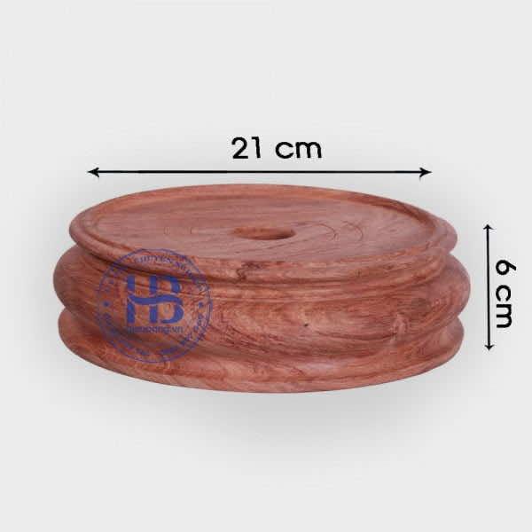 Đế kê gỗ Hương nguyên khối 21cm đẹp giá rẻ ở Hà Nội