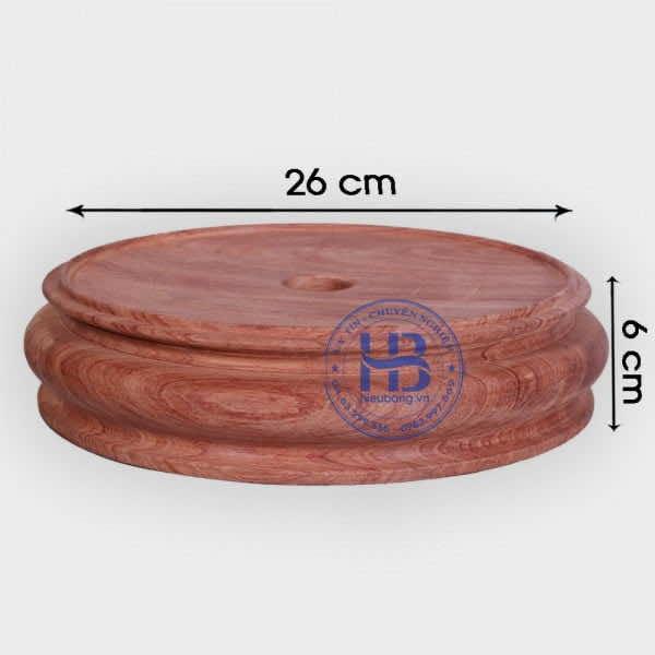 Đế kê gỗ Hương nguyên khối 26cm đẹp giá rẻ ở Hà Nội