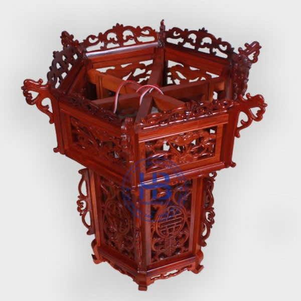 Đèn lồng khung treo gỗ hương 55cm đẹp giá rẻ ở Hà Nội | Đèn lồng
