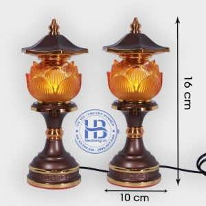 Đèn thờ hoa sen 1 bông Lưu Ly Cao Cấp đẹp giá rẻ tại Hà Nội
