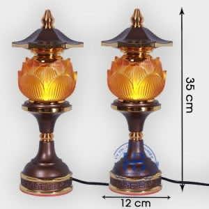 Đèn thờ hoa sen 1 bông Lưu Ly 35cm Cao Cấp đẹp giá rẻ tại Hà Nội