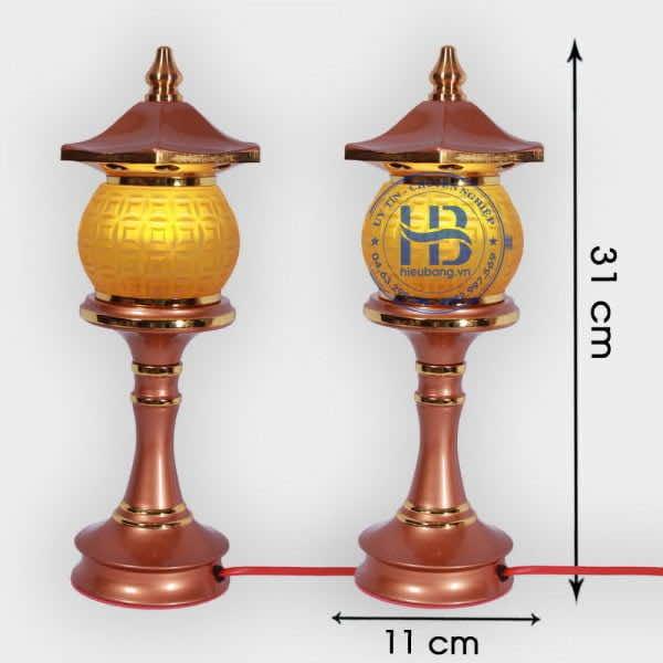 Đèn thờ 1 bông Lưu ly 31cm Cao Cấp đẹp giá rẻ tại Hà Nội