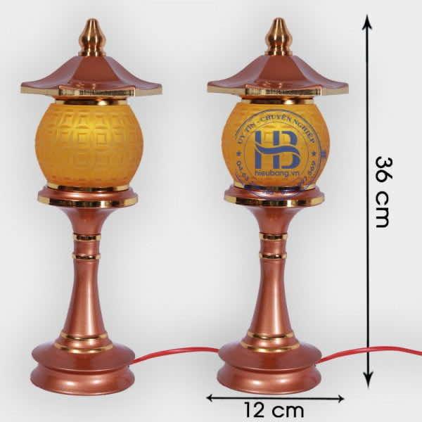 Đèn thờ 1 bông Lưu ly 36cm Cao Cấp đẹp giá rẻ tại Hà Nội