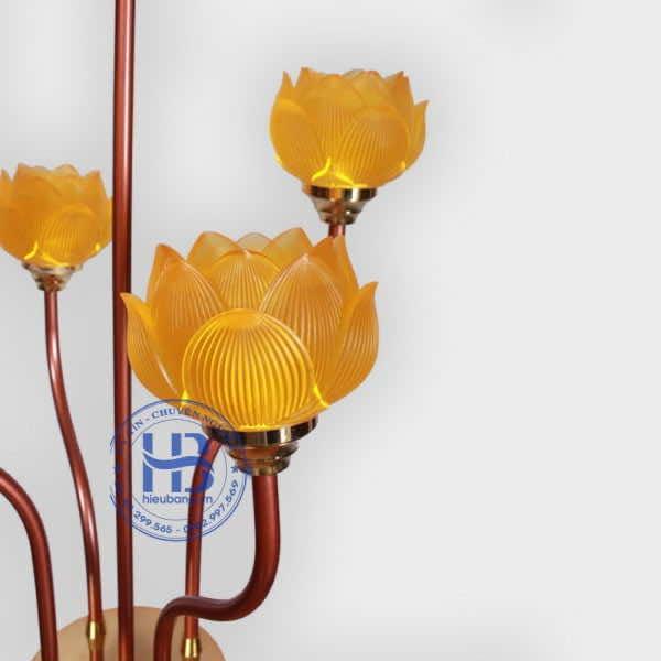 Đèn Thờ Hoa Sen Lưu Ly 5 Bông Cao Cấp Đẹp ở Hà Nội